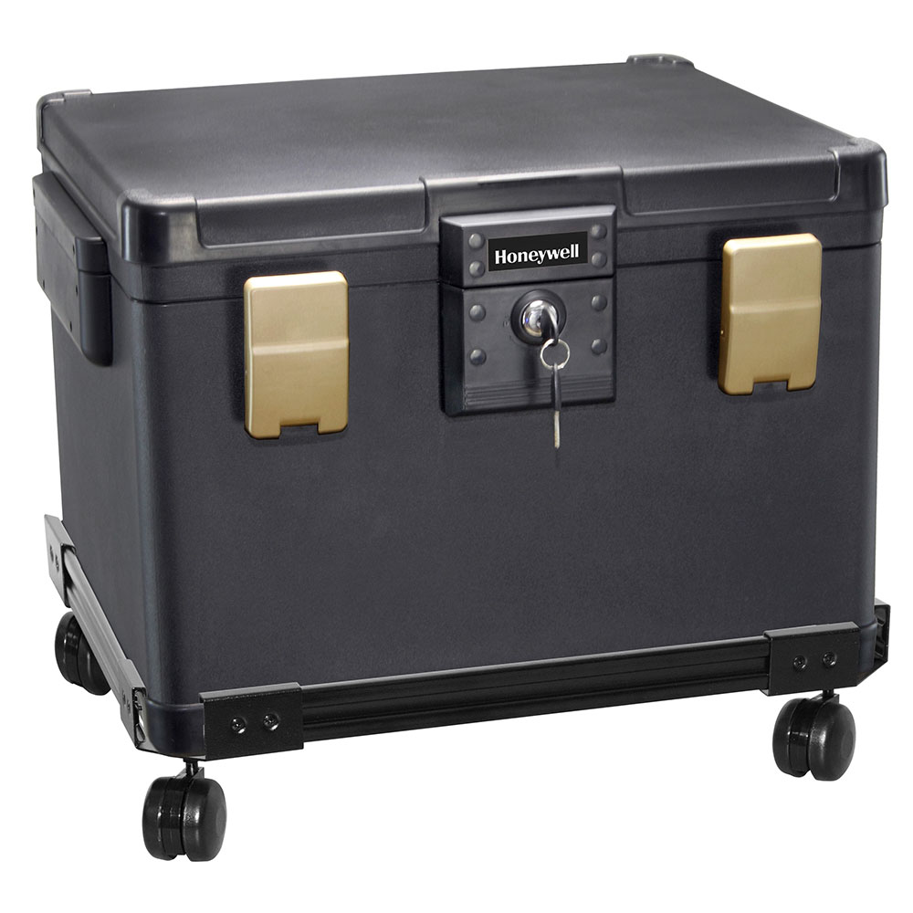 Honeywell 1106W Fire & Waterproof File Chest and Wheel Cart (0.60 Cu. Ft.)