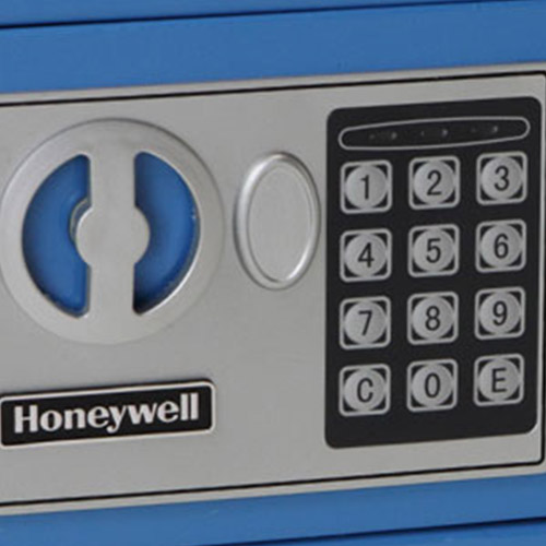 Honeywell 5005B Digital Steel Compact Security Safe (.17 cu ft.) - Blue