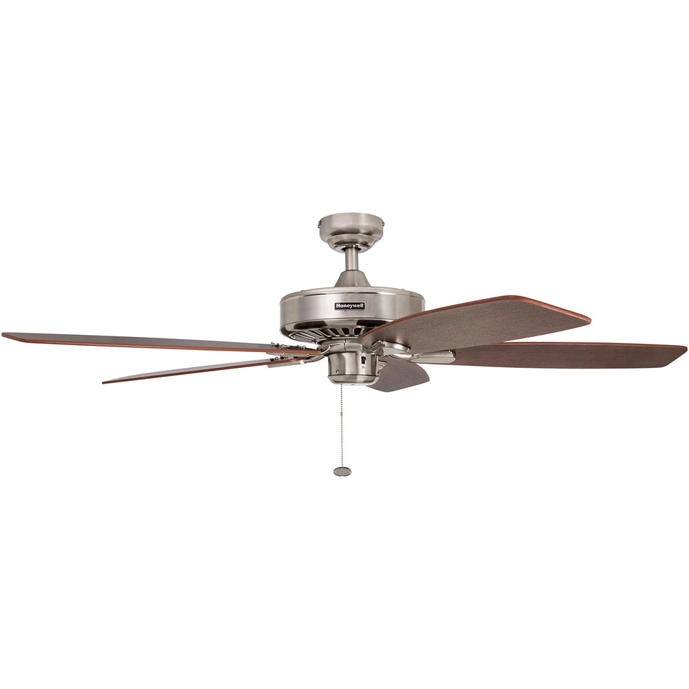 Honeywell Sutton Ceiling Fan, Brushed Nickel Finish, 52 Inch - 50190