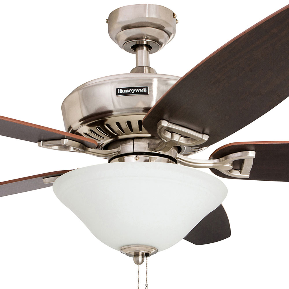 Honeywell Belmar Ceiling Fan, Brushed Nickel Finish, 52 Inch - 50194