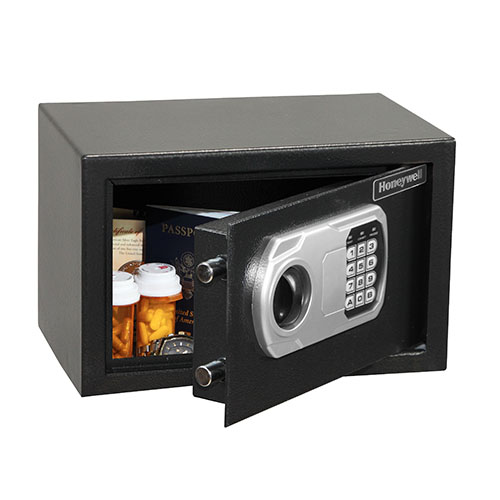 Honeywell 5101DOJ Steel Security Safe-Digital Lock (.31 cu ft.), All Black (5101)