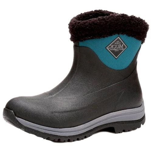Muck Boots Arctic Apres Slip-On Boot, Black/Shaded Spruce, AP8-300