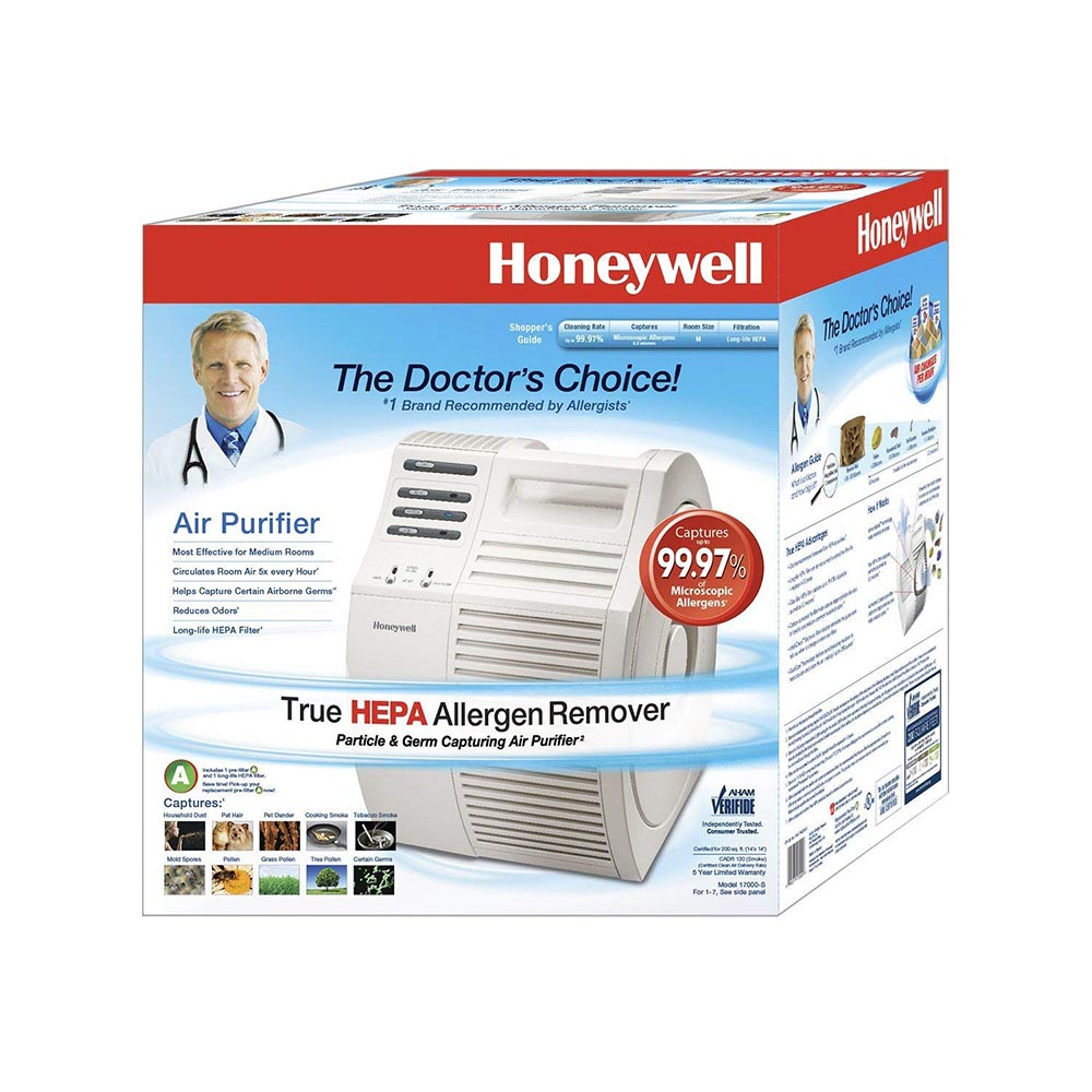 Honeywell QuietCare True HEPA Air Purifier with Germ Reduction, 17000-S