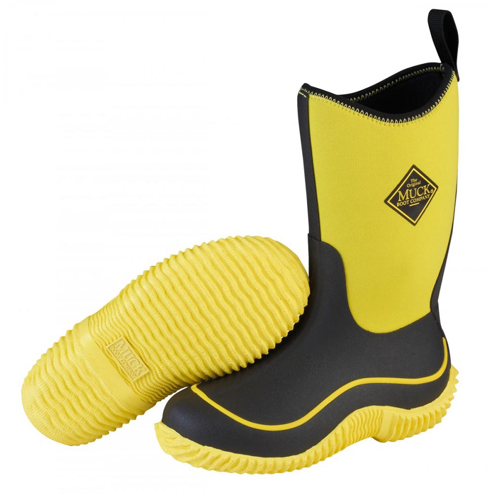 Muck Boots KBH-800 Kid's Hale Outdoor Sport Boot Neon Black/Yellow ...