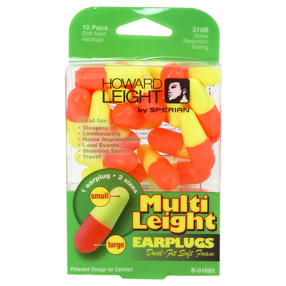 Honeywell Multi Leight Versatile Single-Use Earplugs with Two Different Size Ends, 10-Pairs - R-01682