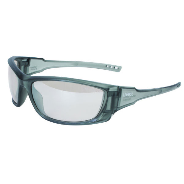 Honeywell Uvex A1500 Shooter's Safety Eyewear, Gray Frame, SCT-Reflect 50 (I/O) Lens with Scratch-Resistant Hardcoat Lens Coating - R-02228