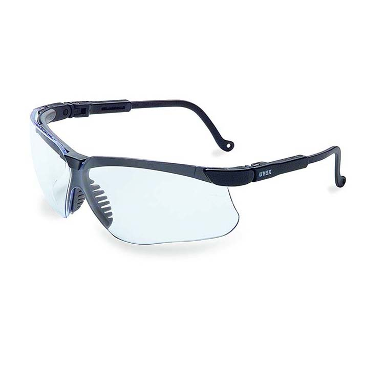 Honeywell Genesis Shooter's Safety Eyewear, Black Frame, Clear Lens with HydroShield Anti-Fog lens - R-02229