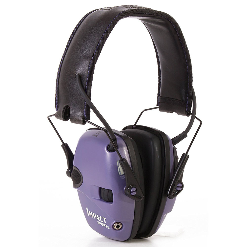 Honeywell Impact Sport Sound Amplification Electronic Earmuff, Purple - R-02522