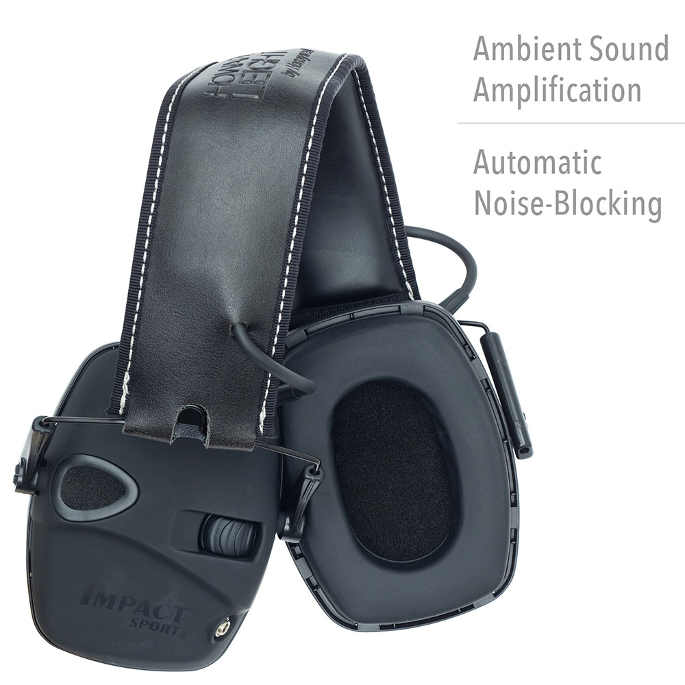 Howard Leight by Honeywell Impact Sport Tactical Sound Amplification Electronic Earmuff with Hard Case & Accessories - R-02601