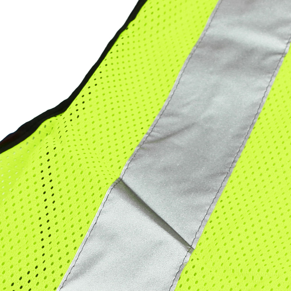 Honeywell High Visibility Lime Green Safety Vest with reflective stripes - RWS-50004