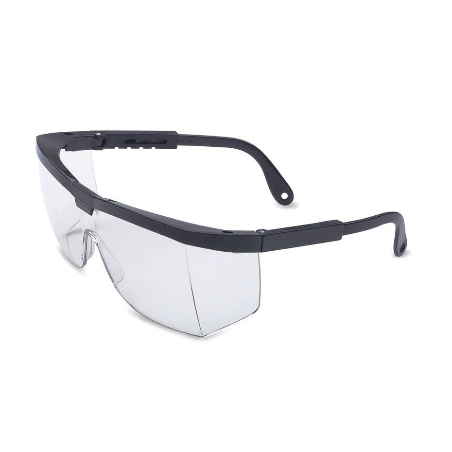 Honeywell A200 Safety Eyewear with Black Frame, Clear Lens, Scratch-Resistant Hardcoat Lens Coating - RWS-51003