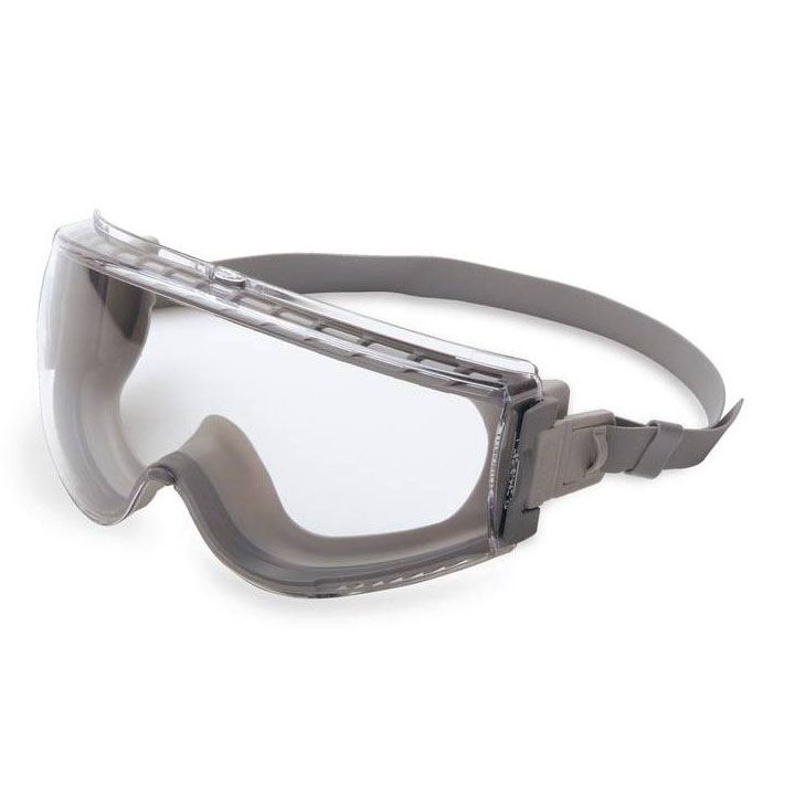 Honeywell Uvex Stealth Low Profile Splash/Impact Goggle, Gray Frame, Clear Lens, Uvextreme Anti-Fog Lens Coating - RWS-51030