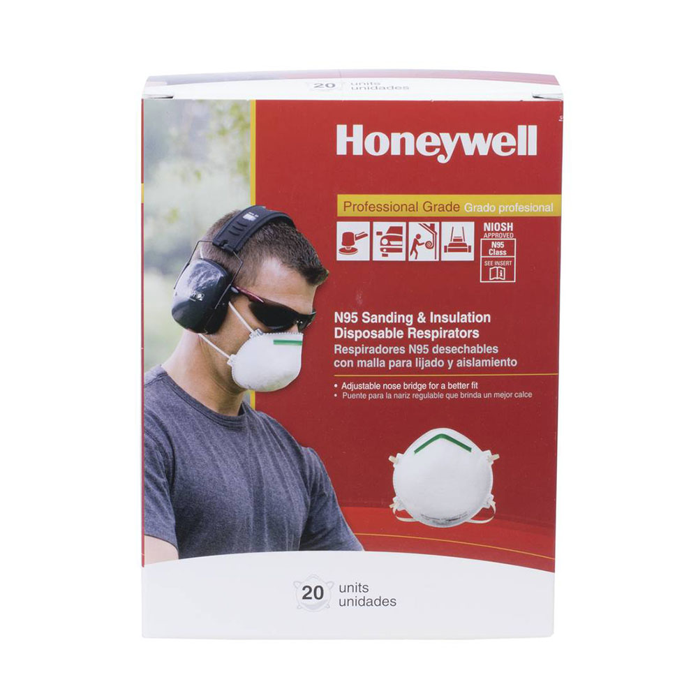 Honeywell Sperian Saf-T-Fit Plus N95 Disposable Respirator, 20 per box - RWS-54003