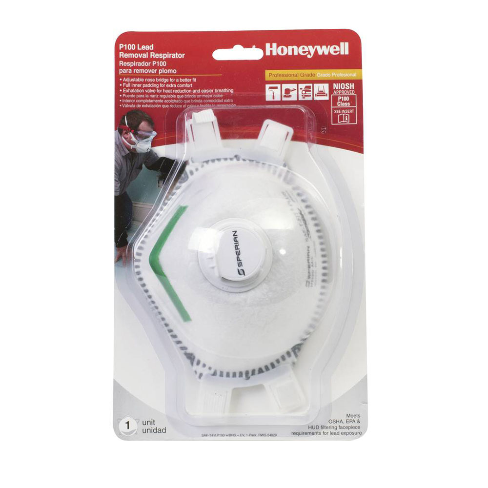 Honeywell Sperian Saf-T-Fit Plus P100 Disposable Respirator with exhalation valve, 1-pack - RWS-54020