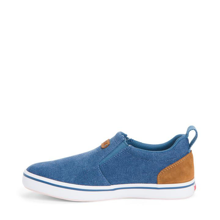 XTRATUF Women's Canvas Sharkbyte Deck Shoe, Blue - XSW-200