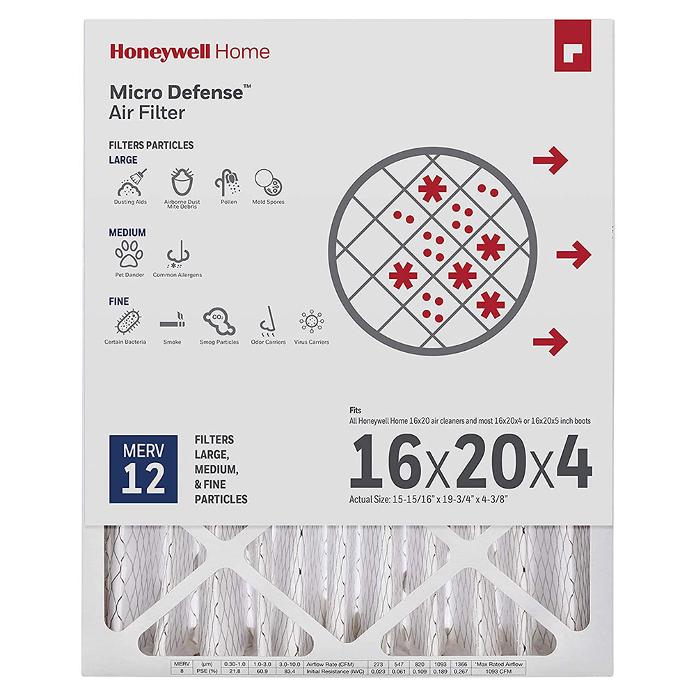Honeywell Air Filter Ultra Efficiency CF200A1620/U, 16x20x4 - Merv 12