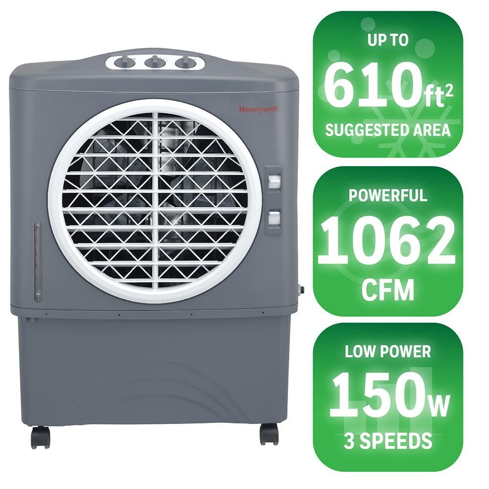 Honeywell CO48PM Evaporative Air Cooler For Indoor, Outdoor & Commercial Use - 48 Liter (Grey)
