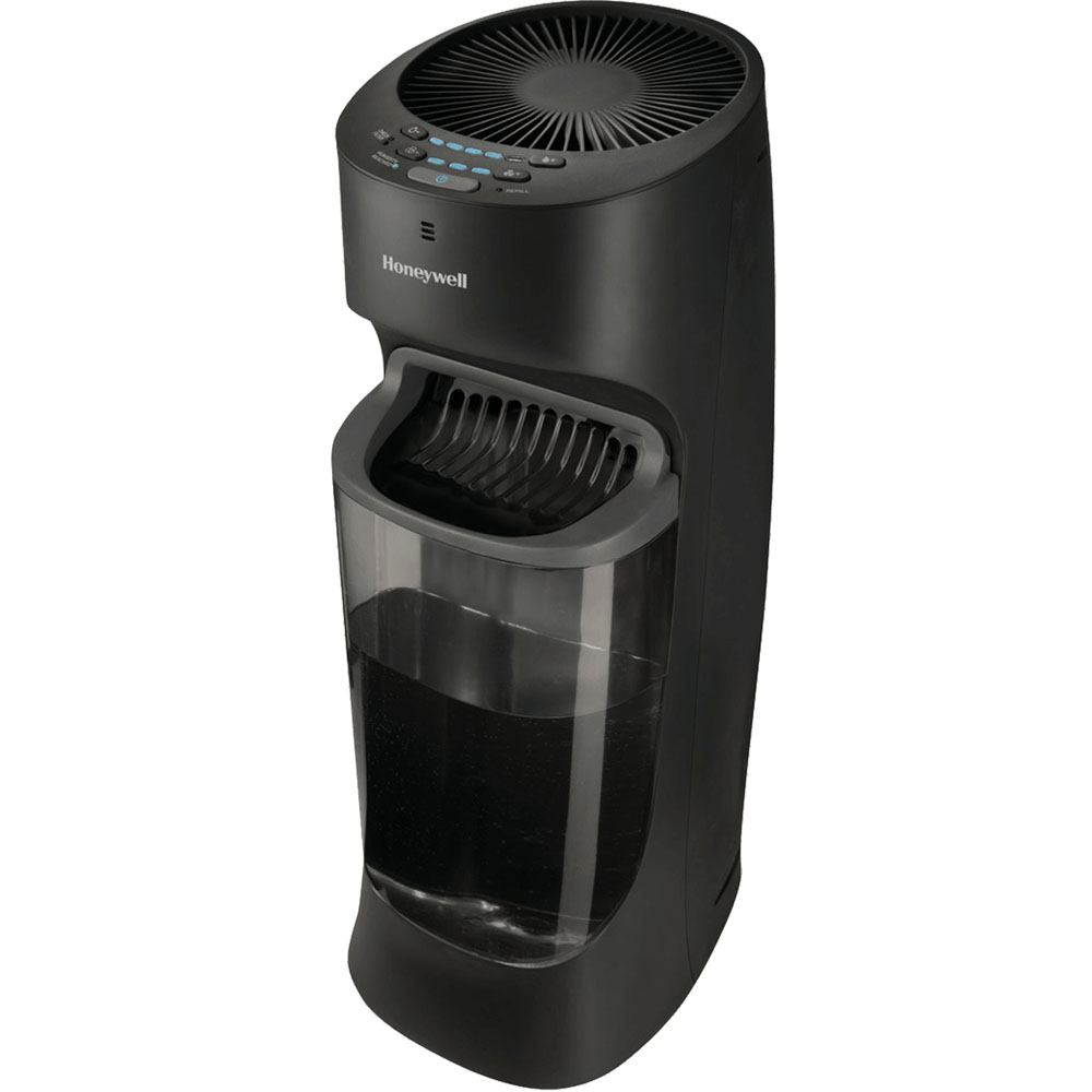 Honeywell Top Fill Cool Moisture Tower Humidifier in Black, HEV615B