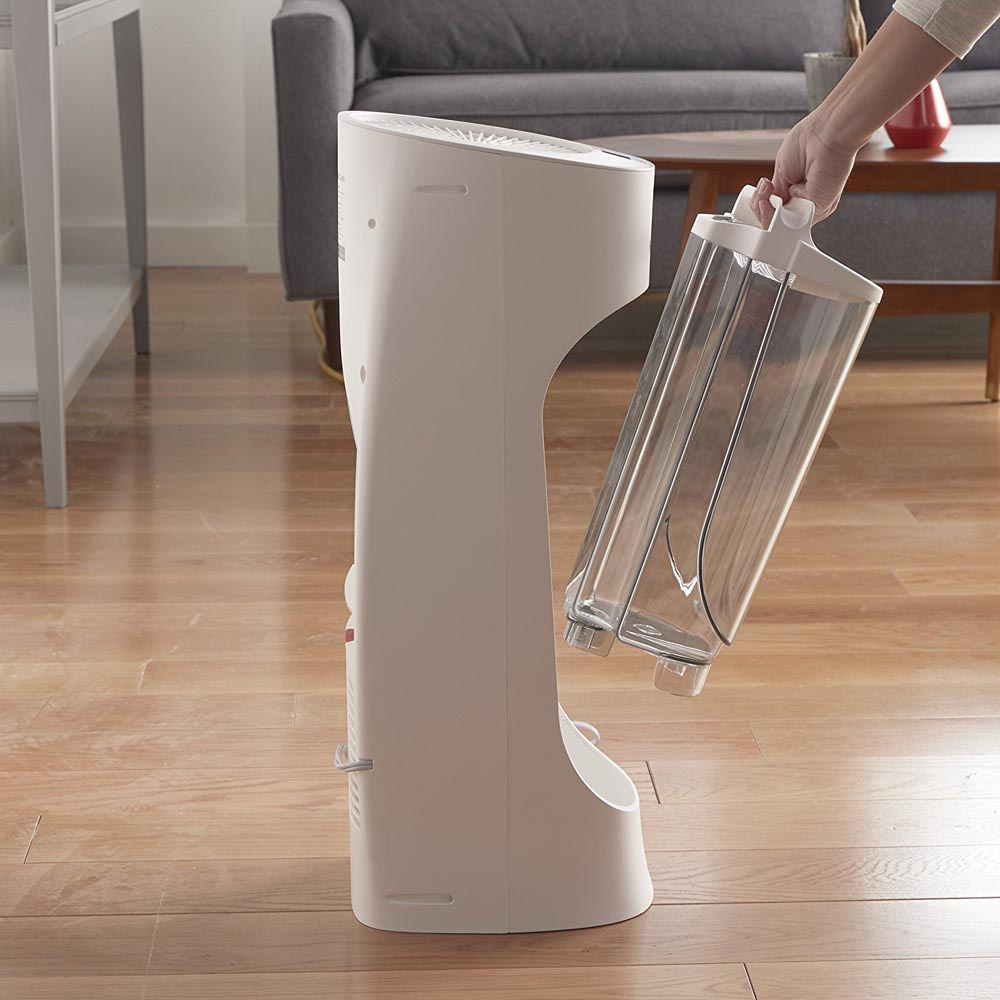 Honeywell Top Fill Cool Moisture Tower Humidifier in White, HEV615W