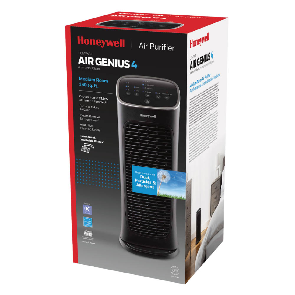 Honeywell Compact AirGenius 4 Air Cleaner & Odor Reducer, HFD280B