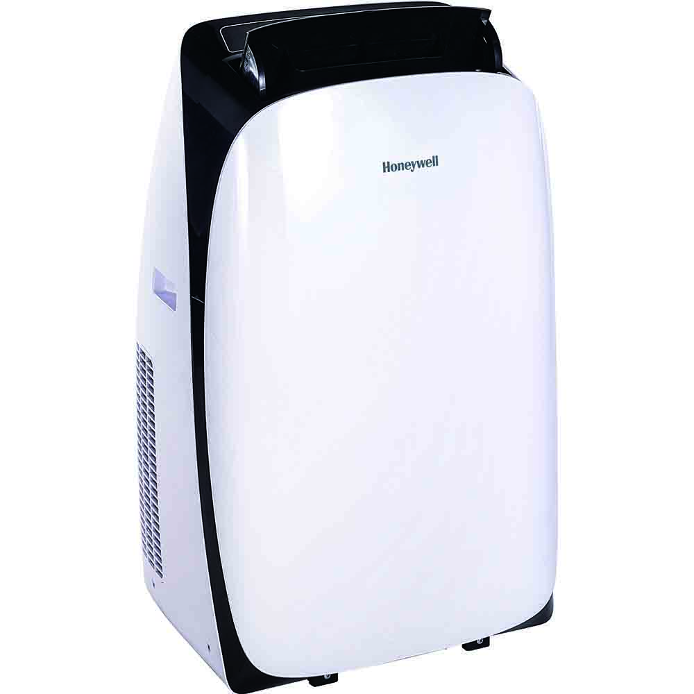 Honeywell HL10CESWK Portable Air Conditioner, 10,000 BTU Cooling, LED Display, Single Hose (White-Black)