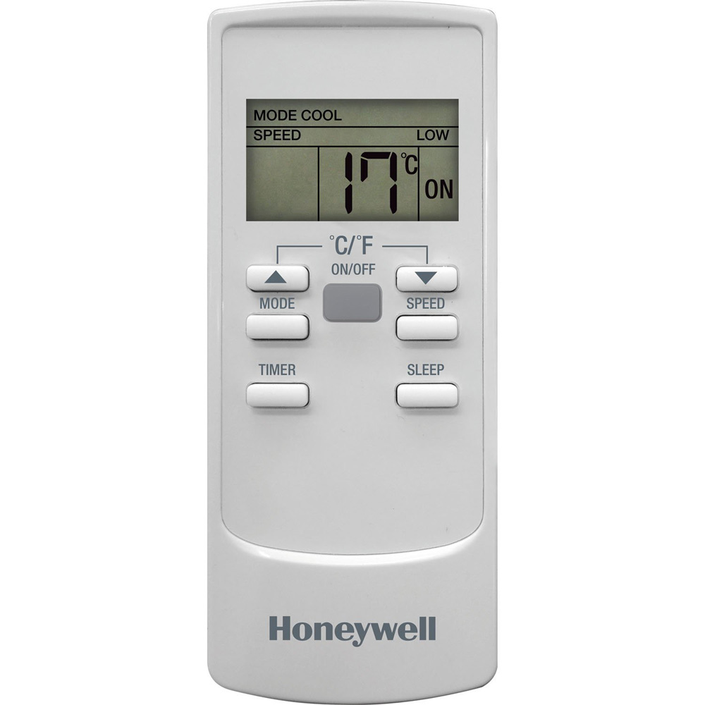 Honeywell HL12CESWG Portable Air Conditioner 12,000 BTU Cooling, with Dehumidifier and Remote (White-Gray)