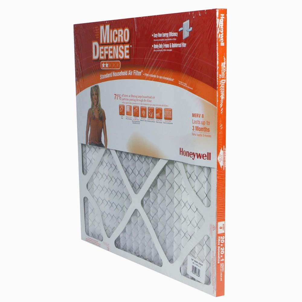 Honeywell Air Filter Standard Efficiency CF108A2020/A, 20x20x1 - Merv 8
