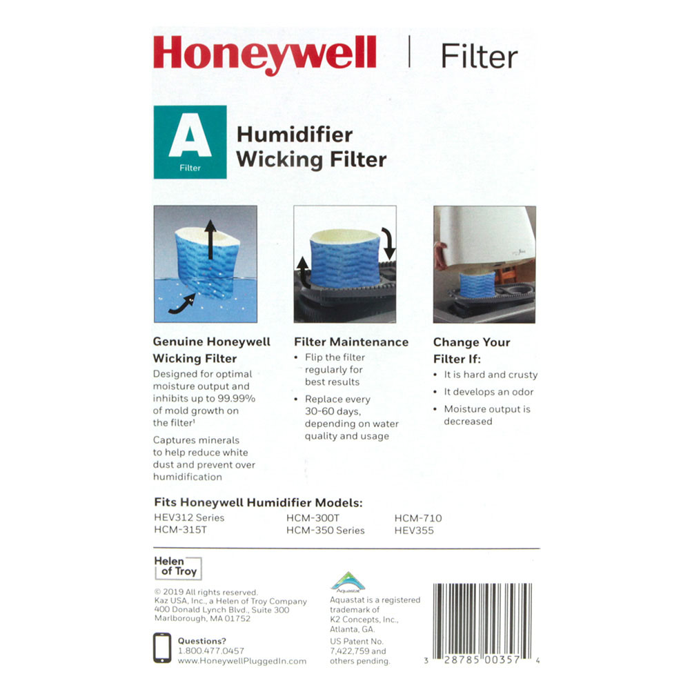 Honeywell HAC-504 Humidifier Replacement Filter, Filter A