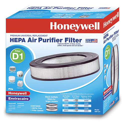 Honeywell Filter D Long Life True HEPA Replacement Filter, HRF-D1