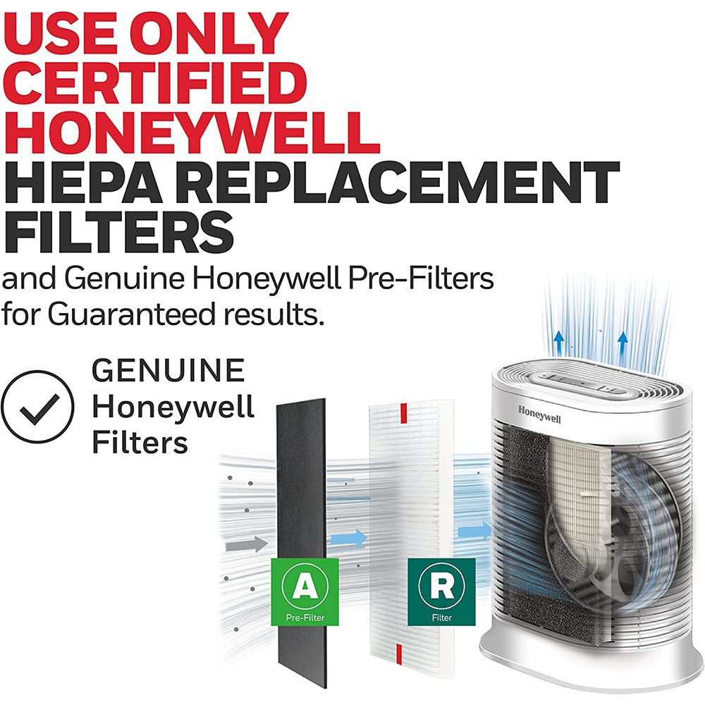 Honeywell True HEPA Large Room Air Purifier with Allergen Remover - White, HPA204