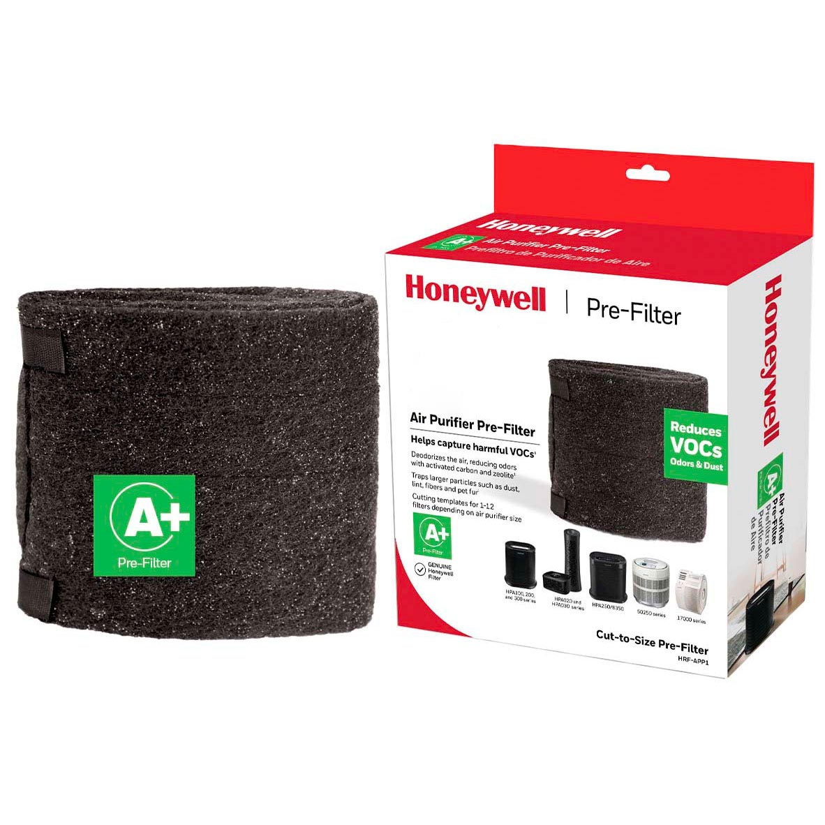 Honeywell Filter A Plus Household Odor & Gas Reducing Universal Pre-filter, HRF-APP1