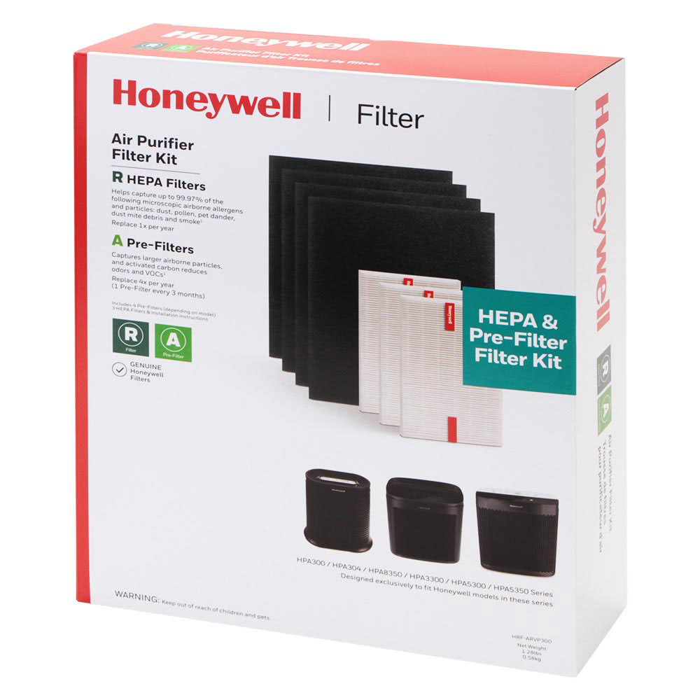 Honeywell HRF-ARVP300 HEPA Filter & Pre-Filter Combo Pack For HPA300 Series Air Purifiers (Filters A/R)