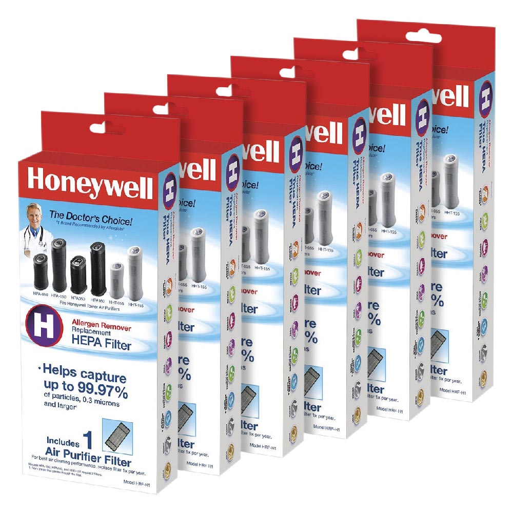6 Pack Bundle of Honeywell Filter H True HEPA Replacement Filter, HRF-H1