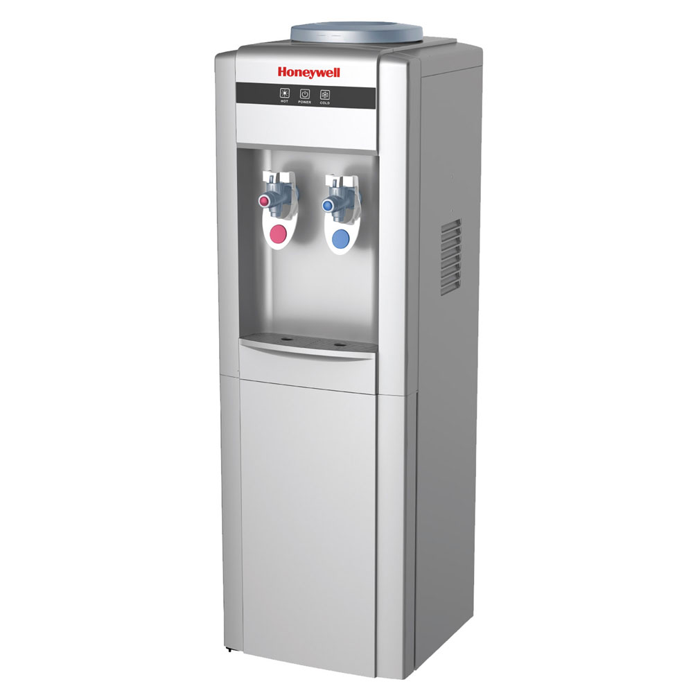 Honeywell Antibacterial Chemical-Free Technology 38-Inch Freestanding Water Cooler Dispenser, Silver - HWBAP1052S2