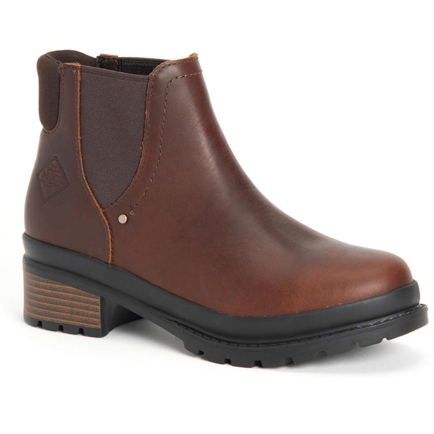 Muck Women's Liberty Chelsea Boot, Brown Pull Up - LWC-900