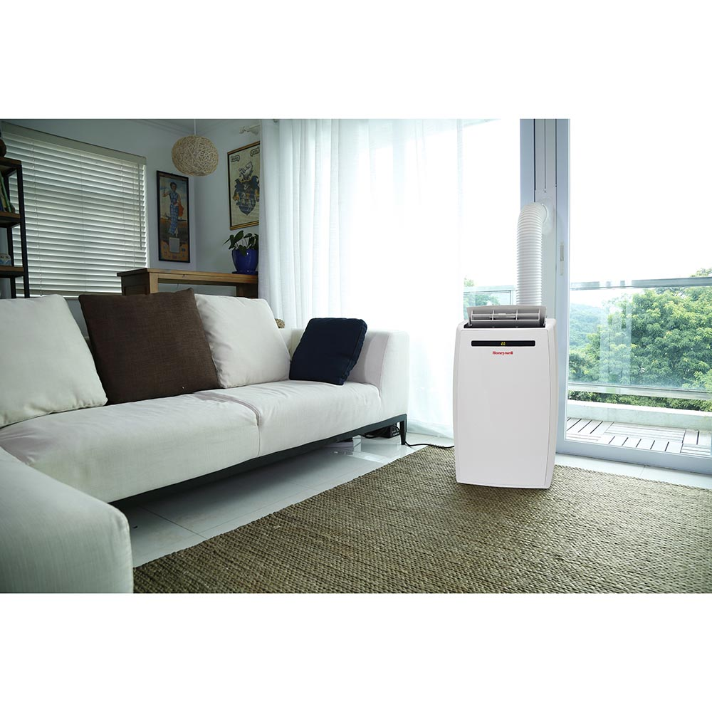 Honeywell MN12CESWW Portable Air Conditioner, 12,000 BTU Cooling, with Dehumidifier & Fan (White)