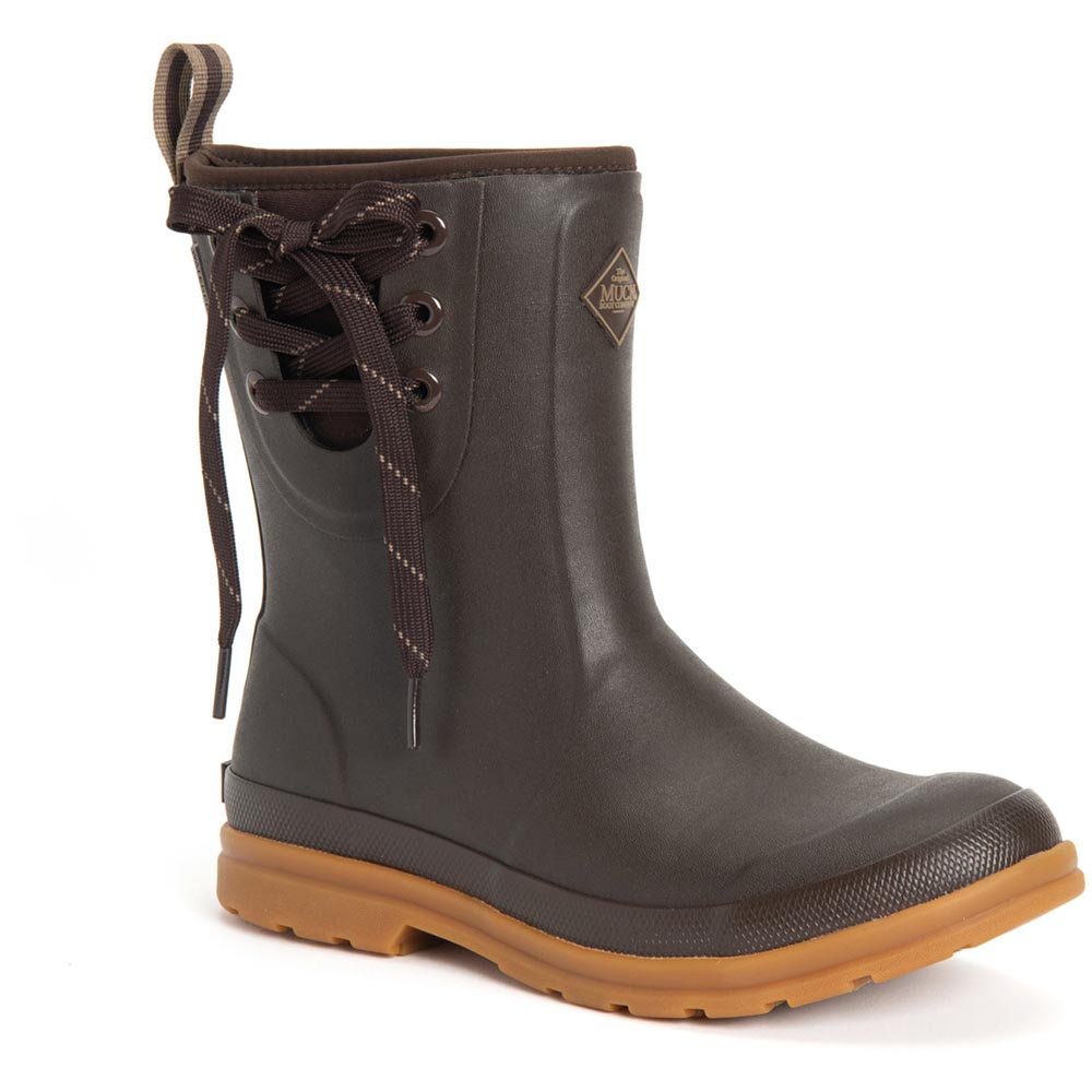 Muck Women's Originals Pull On Mid Boot, Brown - OMW-900