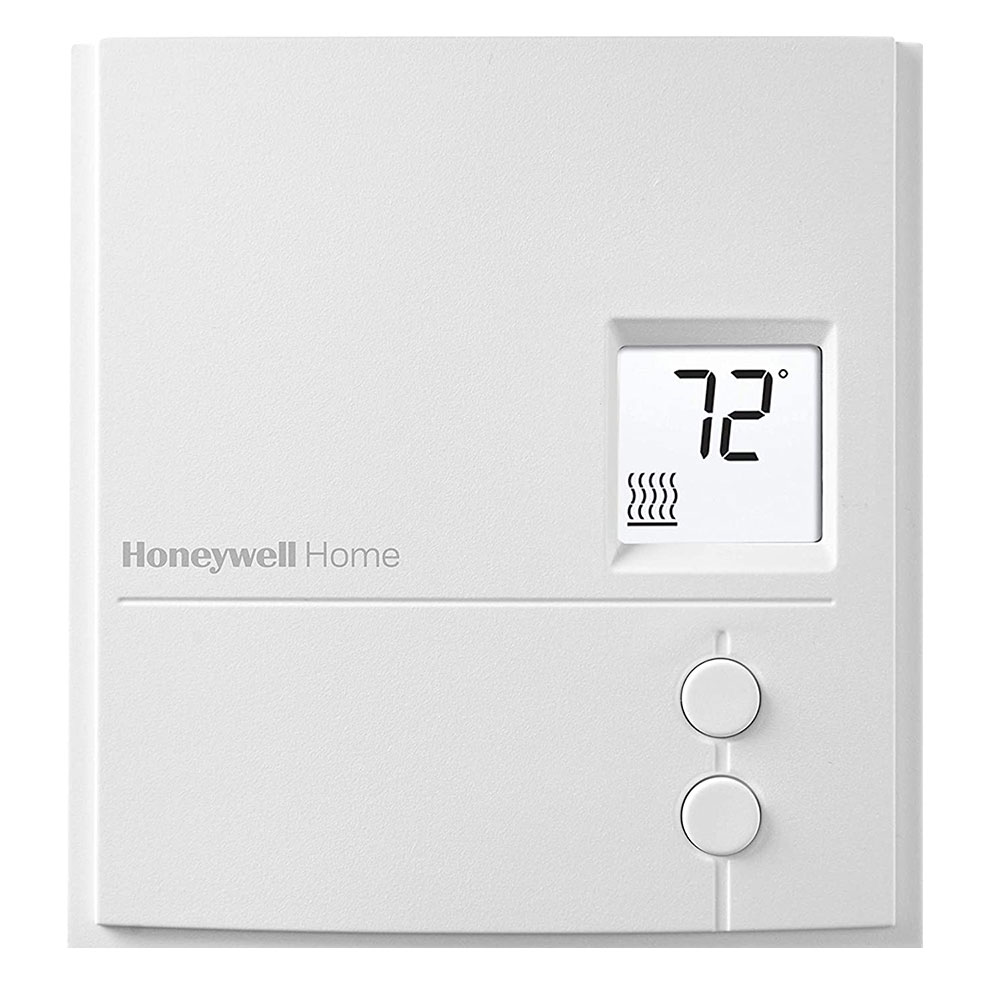 Honeywell RLV3150A Digital Line Volt Thermostat, Baseboard Non-Programmable