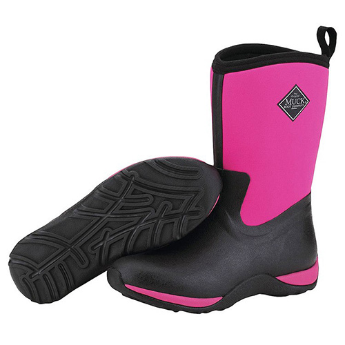 Muck Boots Womens Arctic Weekend Casual Boot in Black/Hot Pink, WAW-404