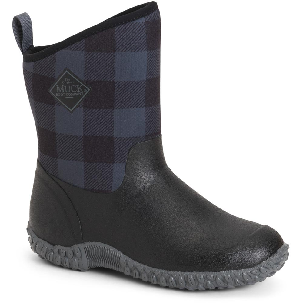Muck Women's Muckster II Mid Boot, Black / Gray Plaid - WM2-1PLD