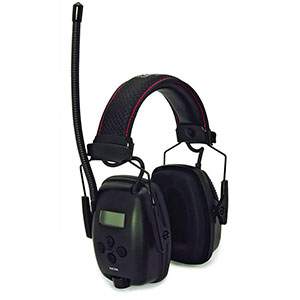 Honeywell RadioHearing protector Earmuff, with AUX input jack Black - 1032460