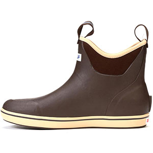 XTRATUF Men's 6 In Ankle Deck Boot, Chocolate / Tan - 22734