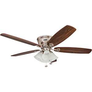 Honeywell Glen Alden Ceiling Fan, Brushed Nickel Finish, 52 Inch - 50182