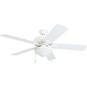 Honeywell Belmar 52-Inch White Indoor/Outdoor LED Ceiling Fan - 50513-03
