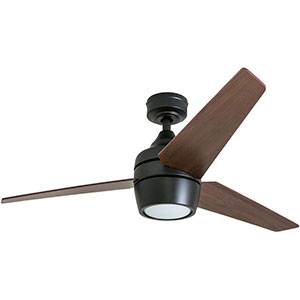 Honeywell Eamon 52-Inch Modern Espresso Bronze Remote Control Ceiling Fan with Integrated LED Light, 3 Blade - 50603-03