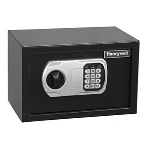 Honeywell 5101DOJ Steel Security Safe-Digital Lock (.31 cu'), All Black (5101)