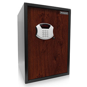 Honeywell 5107SA Digital Security Safe with Depository Slot and Faux Wood Door Panel, Cherry (2.87 Cu Ft.)