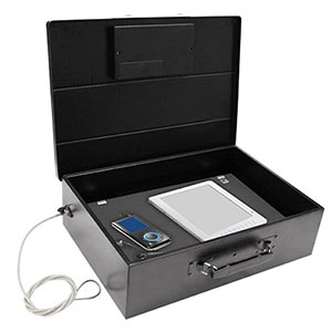 Honeywell 6110 Digital Steel Laptop Security Box with Secure Cable Tether (.49 c