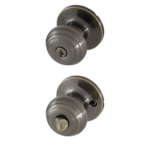 Honeywell Classic Entry Door Knob, Antique Brass, 8101101