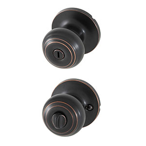 Honeywell Classic Privacy Door Knob, Oil Rubbed Bronze, 8101402